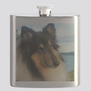 Collie by the Ocean Flask