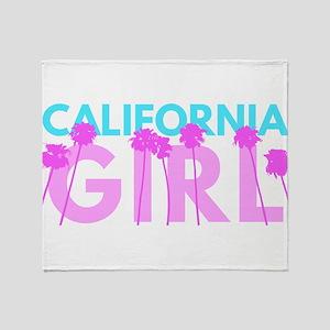 California Girl Throw Blanket