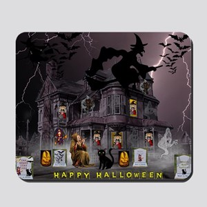 Witches Haunted House Mousepad