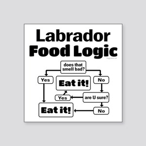 "Lab Food Square Sticker 3"" x 3"""