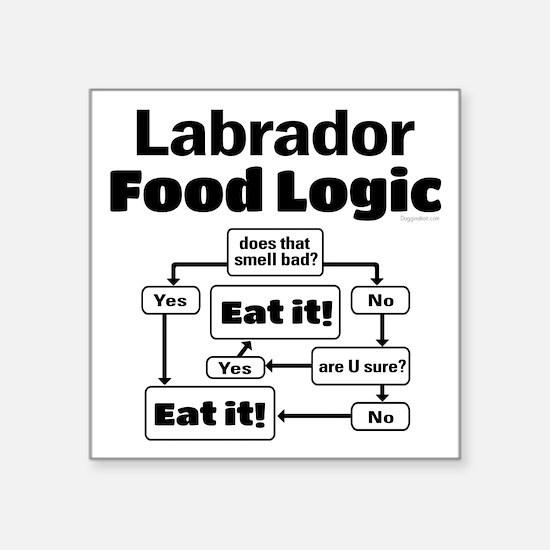 "Lab Food Square Sticker 3"" x 3"""