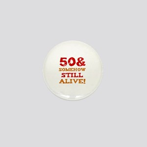 50th Birthday Gag Gift Mini Button
