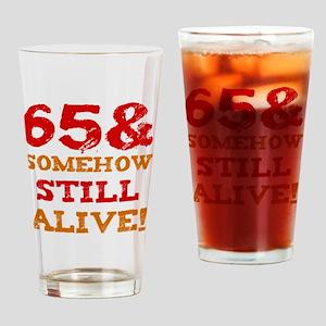 65th Birthday Gag Gift Drinking Glass