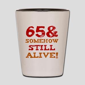 65th Birthday Gag Gift Shot Glass