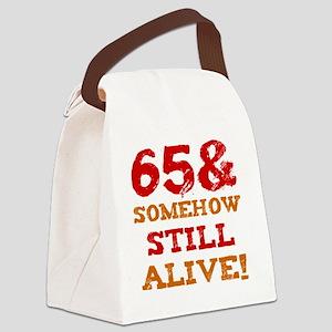 65th Birthday Gag Gift Canvas Lunch Bag