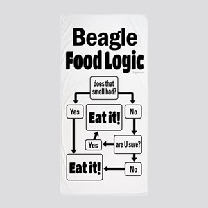 Beagle Food Beach Towel