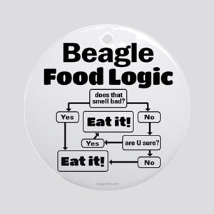 Beagle Food Round Ornament