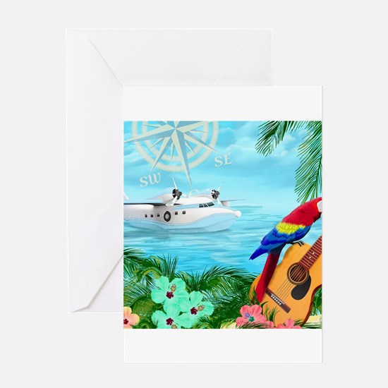 Tropical Travels Greeting Cards
