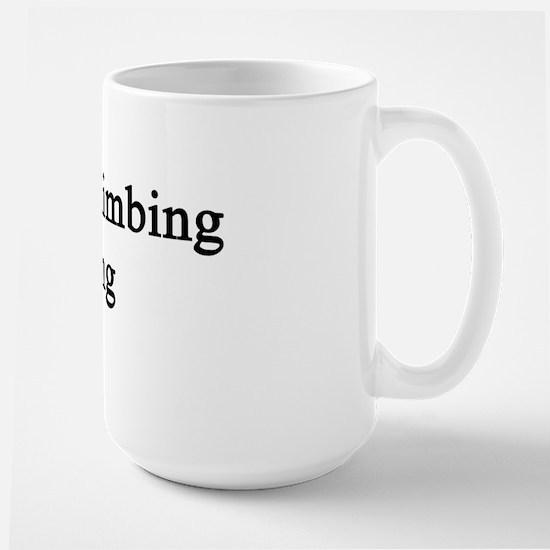 Rock Climbing King  Large Mug