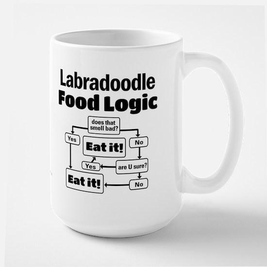Labradoodle food Large Mug