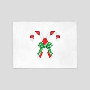 CHRISTMAS CANDYCANES 5'x7'Area Rug