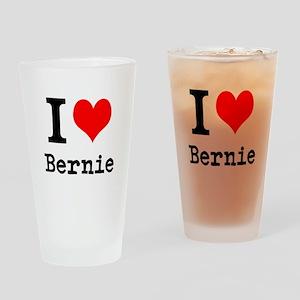 I Love Bernie Drinking Glass