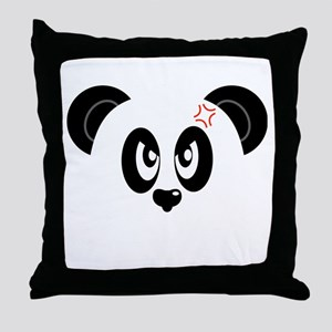 Angry And Annoyed Panda Throw Pillow