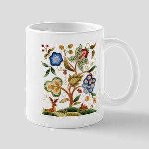 Tree of Life Embroidery Mug