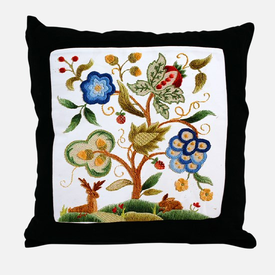 Tree of Life Embroidery Throw Pillow
