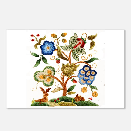 Tree of Life Embroidery Postcards (Package of 8)