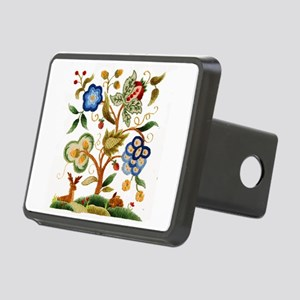 Tree of Life Embroidery Rectangular Hitch Cover