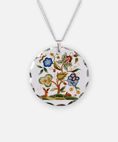 Tree of Life Embroidery Necklace
