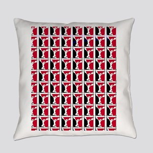 Black and Red Cheerleader Everyday Pillow