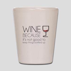 Wine Bottled Up Shot Glass
