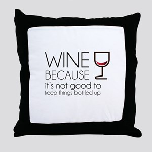 Wine Bottled Up Throw Pillow