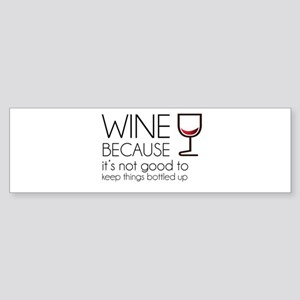 Wine Bottled Up Sticker (Bumper 10 pk)