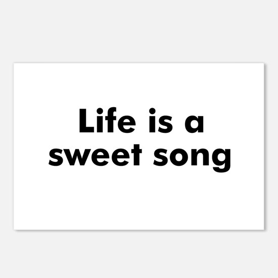 Life is a sweet song Postcards (Package of 8)