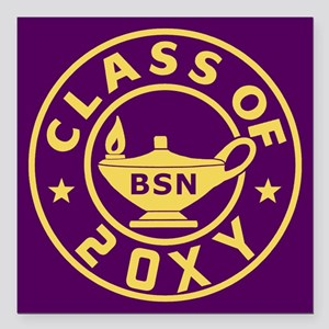 "Class of 20?? BSN (Nursing) Square Car Magnet 3"" x"