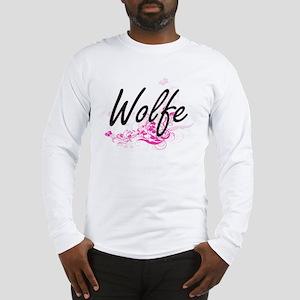 Wolfe surname artistic design Long Sleeve T-Shirt