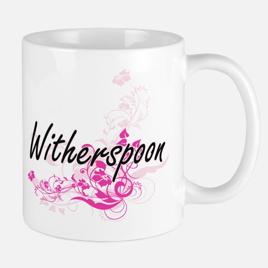 Witherspoon surname artistic design with Flow Mugs