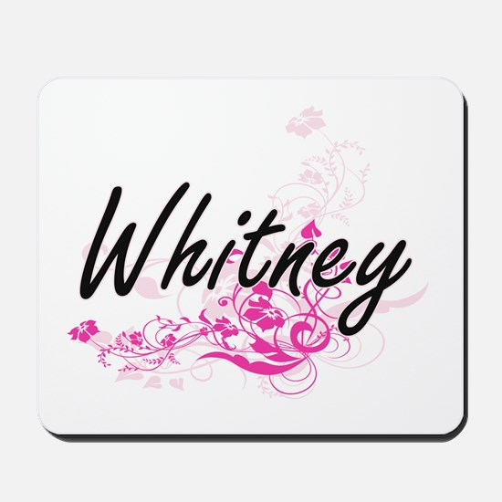 Whitney surname artistic design with Flo Mousepad