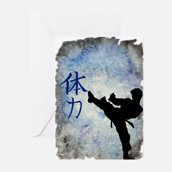 Funny Tae kwon do Greeting Cards (Pk of 20)