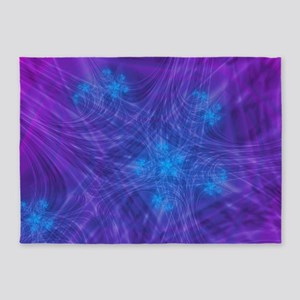 Mitosis Purple 5'x7'area Rug