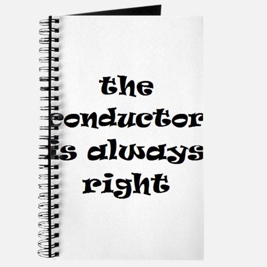 conductor always right Journal