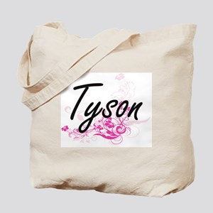 Tyson surname artistic design with Flower Tote Bag