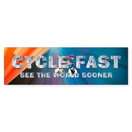 TOP Cycle Fast Sticker (Bumper)