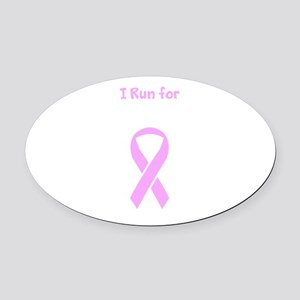 Pink Ribbon Breast Cancer Awareness for Gus Oval C