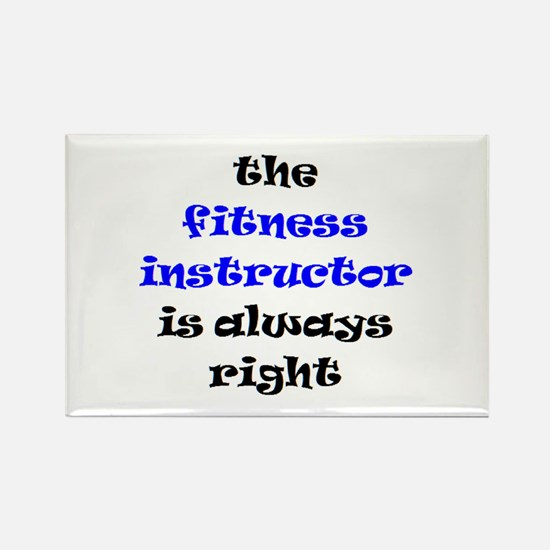 fitness instructor right Rectangle Magnet