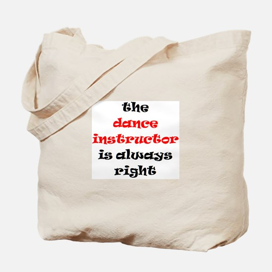dance instructor right Tote Bag