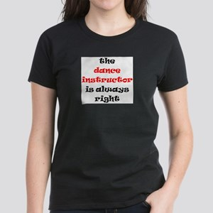dance instructor right Women's Dark T-Shirt