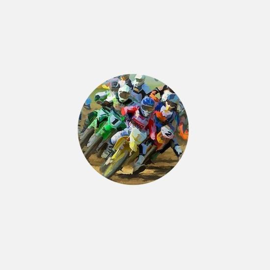 Motocross Mini Button