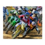 Dirt bike Fleece Blankets
