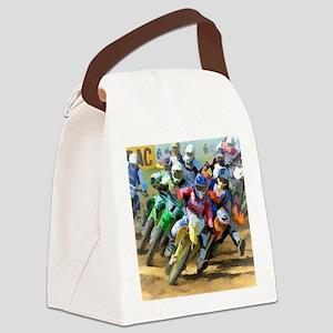 Motocross Canvas Lunch Bag