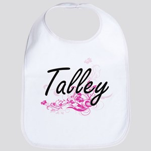 Talley surname artistic design with Flowers Bib