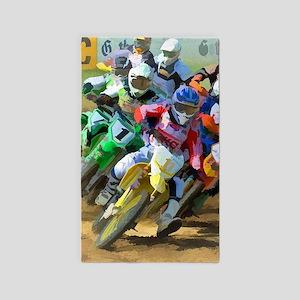 Motocross Area Rug