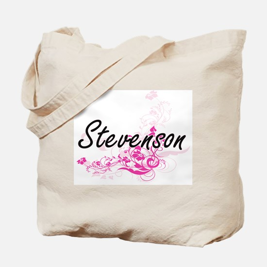 Stevenson surname artistic design with Fl Tote Bag