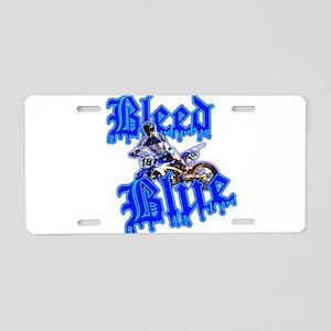 Bleed Blue 2 Aluminum License Plate