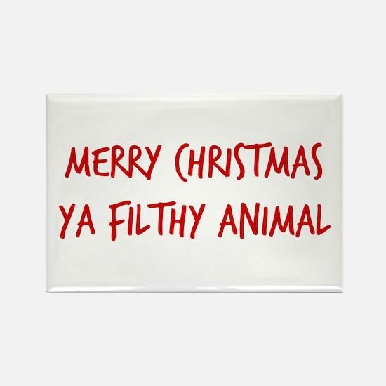 Merry Christmas Ya Filthy Animal Magnets