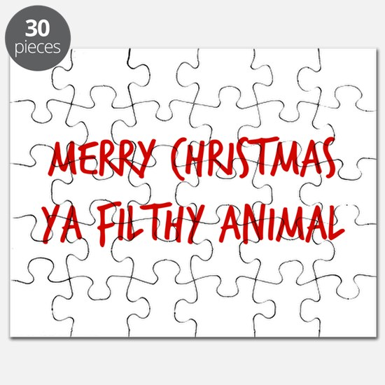 Merry Christmas Ya Filthy Animal Puzzle