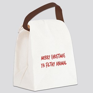Merry Christmas Ya Filthy Animal Canvas Lunch Bag